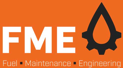 Fuel Maintenance & Engineering Logo and Fuel icon